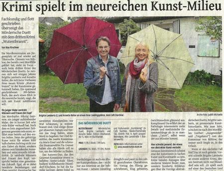 Westdeutsche Zeitung vom 04.03.2016, Ausgabe Düsseldorf, Kulturteil, (c) Foto: Judith Michaelis