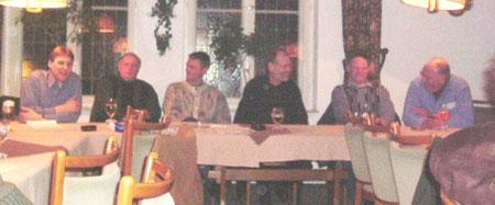 Der Vorstandstisch  am 17.3.2005 Von links: Jürgen Vogt, Klaus Krug, Ralf Isernhagen, Jürgen Kaeselau, Rolf Kistenbrügger, Ernst -August Ahlers.