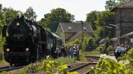 Dampflok 52 8079-7 Sonderfahrt Neuenmarkt nach Marktschorgast
