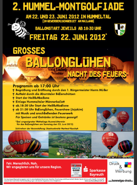 2. Hummelmontgolfiade in Hummeltal