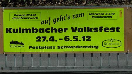 63. Kulmbacher Volksfest Festplatz am Schwedensteg in Kulmbach