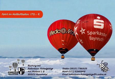 Erleben Sie Oberfranken aus der Vogelperspektive mit dem Heißluftballon