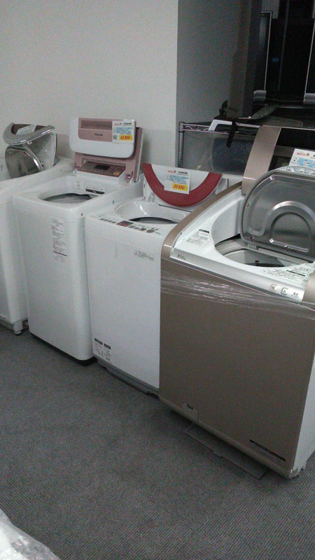 札幌最大級の在庫数洗濯機
