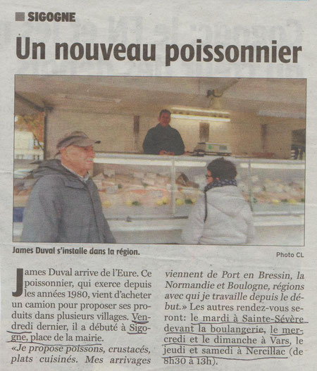 Article Charente Libre du 21/10/2016