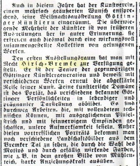 Artikel im Göttinger Tageblatt vom 16.12.1932, S. 3