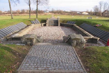 Немецко - русское кладбище 1 и 2 мировой войны. Центр кладбища.