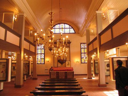Чистые Пруды музей Донелайтиса внутри кирхи.
