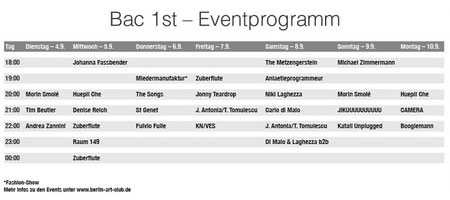 Berlin Art Club - Event Program