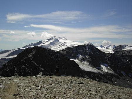 Blick vom Madritschjoch auf Cevedale und Zufallspitze