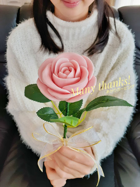 ソーカービング バラ 一輪 ピンク色
