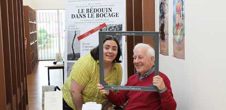 L'auteur Maurice Robert et l'illustratrice Cloé Perrotin à la Caravane Littéraire de Dompierre-sur-Besbre en 2016
