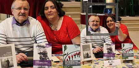 L'auteur Henri-Alexis Sol et l'illustratrice Cloé Perrotin à la 6ème Caravane Littéraire d'Yzeurespace en 2016