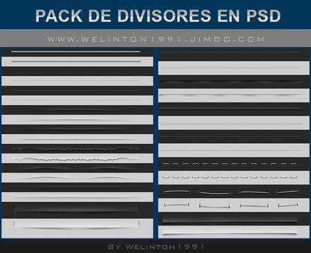 Pack De Divisores En PSD
