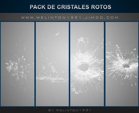 Pack De Cristales Rotos W1,photoshop · Diseños · Packs