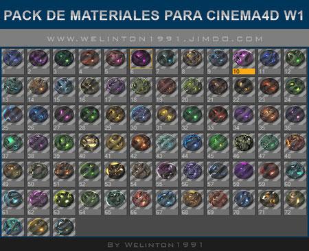 Pack De Materiales Para Cinema4D W1