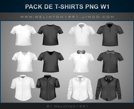 photoshop · Diseños · Packs · T-shirts · PNG , Pack De T-Shirts PNG W1