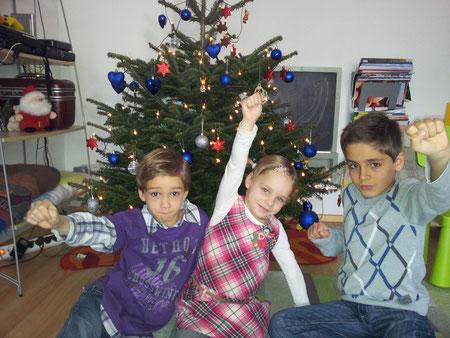 Unsere Kids an Weihnachten