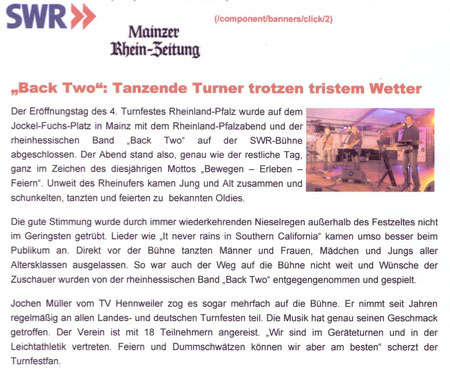 Auftritt zur Eröffnung des Deutschen Turnfestes 2010 in Mainz