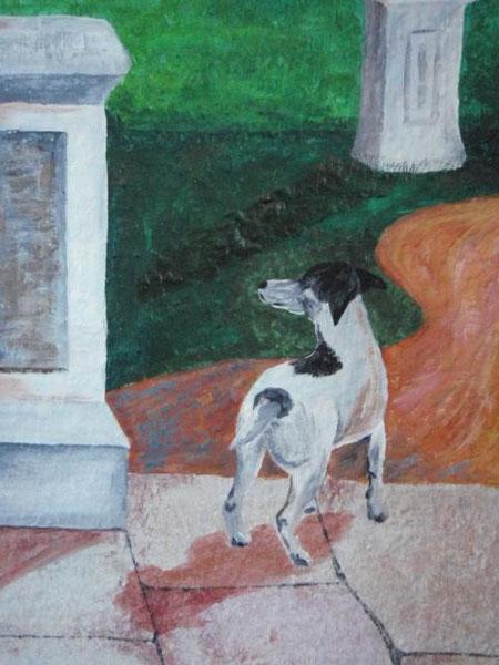 Teil eines Wandbildes