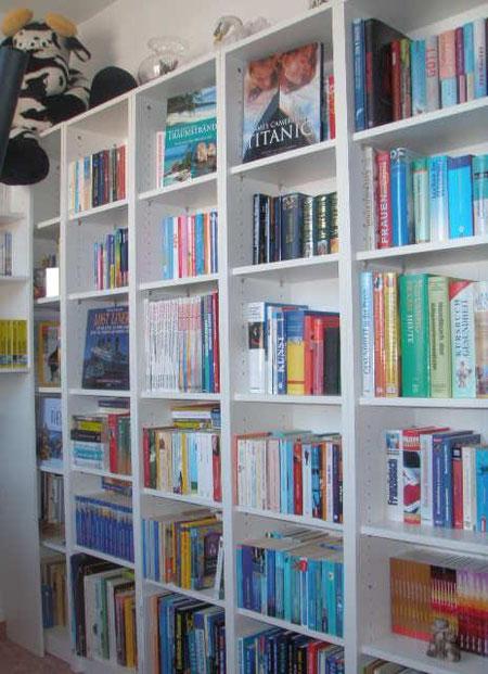 ... neue Bücherregale in weiß mussten natürlich auch her (Neckermann - Necky-schmal-Regale) :o)