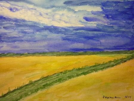 Aufziehendes Gewitter -  nach einer Vorlage des Malers DAX