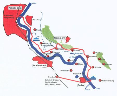 regionale Radwanderkarten bei Ihrem Vermieter