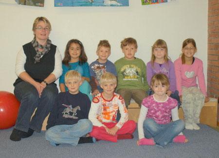 unsere Betreuungsgruppe mit Frau Brockmann