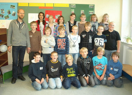 Klasse 4b mit Herrn Tietje