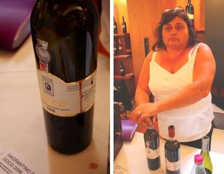 Moretti Omeroのワインは、タンニンがうまくまとまっており、エレガント。女将さんはちょっとおっかなかったけど、実直でウソのないワインです。