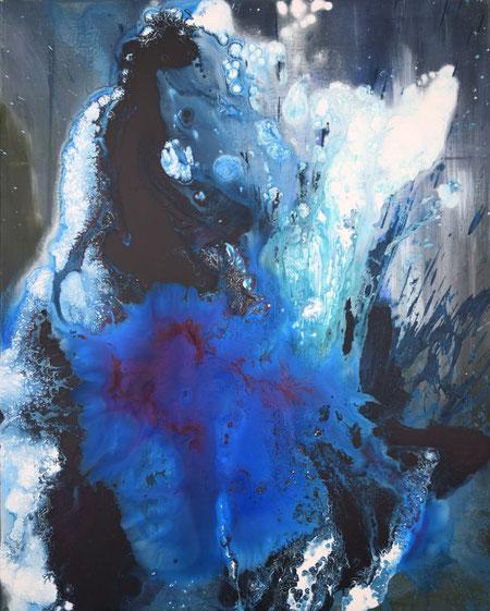 Agua, 2018, Acryl auf Leinwand, 120 x 100 cm