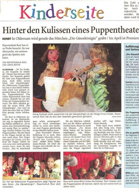 Ostfriesen-Zeitung v. 28.03.2013, Jonas Bothe