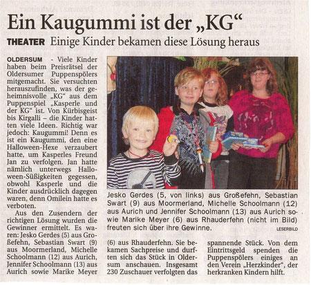 Ostfriesen-Zeitung vom 3.11.2011