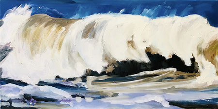 Meer, Brandung, Wellen, auflaufendes Wasser, Dünung, Wellenlippe, Nordsee, Malerei, Kunst
