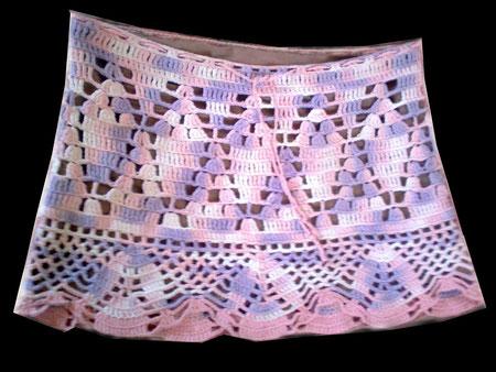 Pollera al crochet matizada