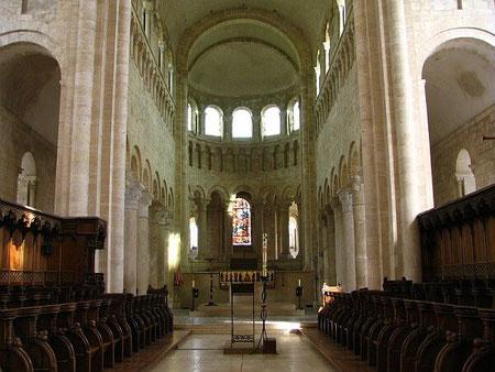 Le Choeur de l'Abbaye de Saint Benoît sur Loire dans le Loiret