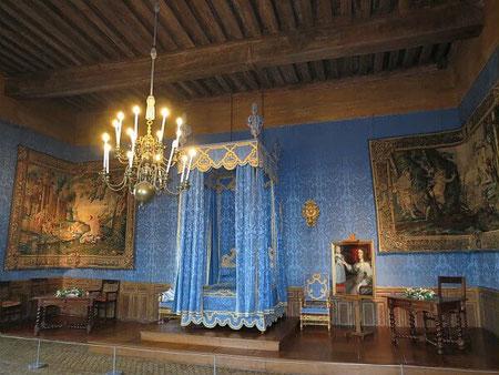 La chambre du Roi dans le Château de Sully sur Loire