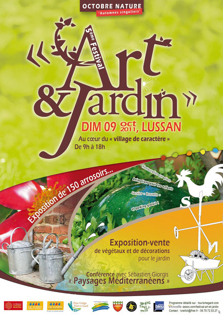 Affiche 2011 du festival Art et Jardin 2011