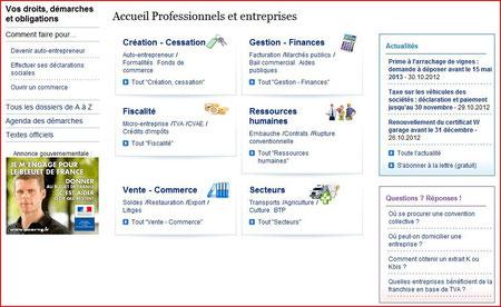 services publics professionnels entreprises
