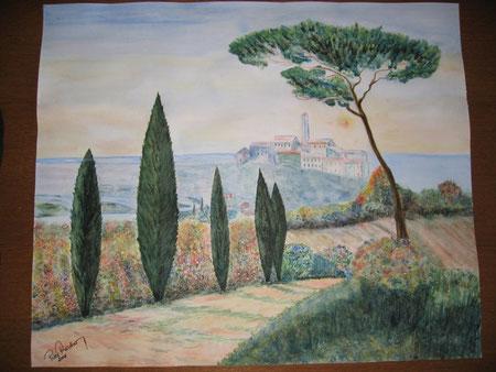 Bergdorf in der Toscana