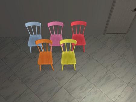 Chaise Salon de Thé 5 recolorations