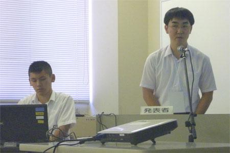 左から、伊井誠之介くん、鈴木拓久くん(ともに3年)