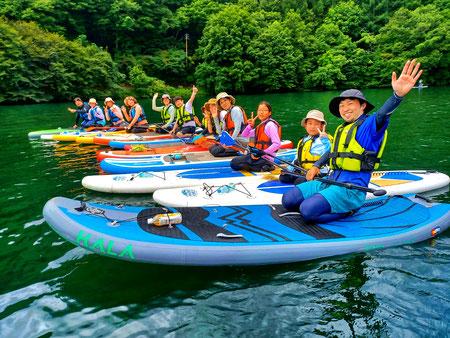 当ツアー人気No.1コース木崎湖SUPツアー
