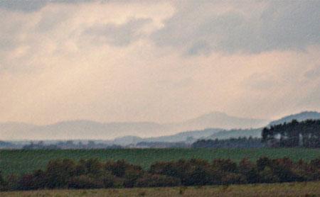 Blick auf das Zittauer Gebirge