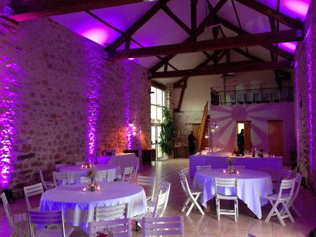 Illumination d'un événement de mariage par projecteur d'ambiance à Led
