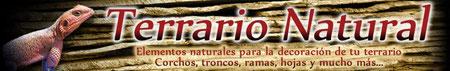 Material natural para tu terrario