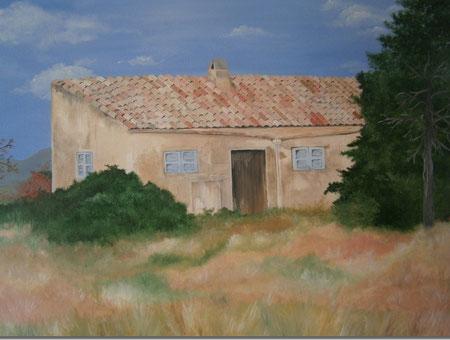 © Mallorca - Finca neben den Salzseen, Öl auf Leinwand, 100x80 cm