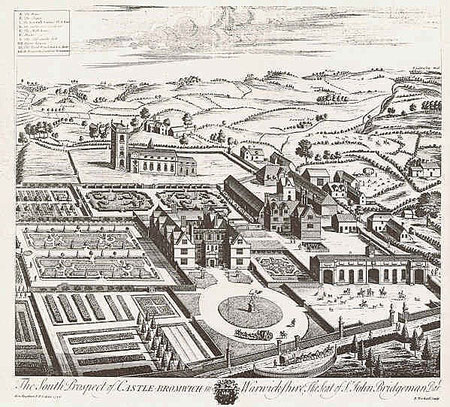 Castle Bromwich Hall by Henry Beighton from William Dugdale 1730 Antiquities of Warwickshire