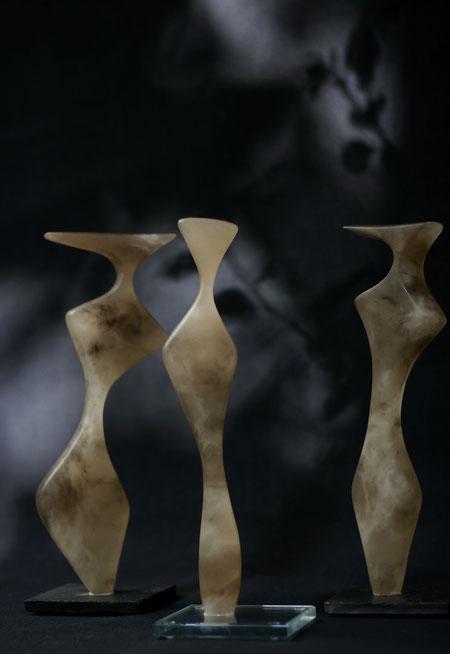 Heidrun Feistner: Die Karamellen  / Alabaster karamell / Foto HF
