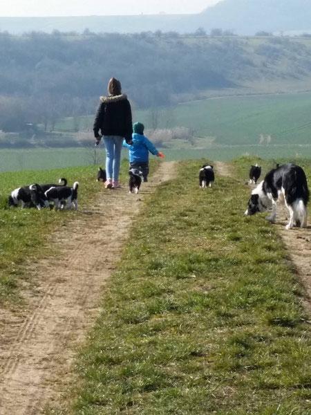 Menschen- und Hundekinder -alle zusammen... :) Human- and Dog-Kids -all together... :)