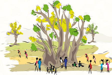 Baobab by cecile castillo